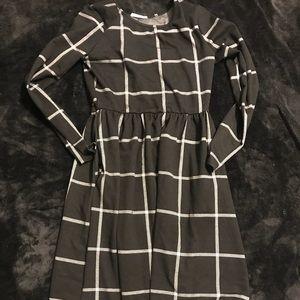 JessaKae black and white plaid dress with pockets!